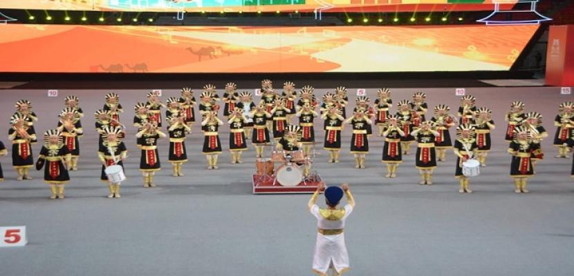 الموسيقات العسكرية المصرية تواصل عروضها المتميزة بالصين