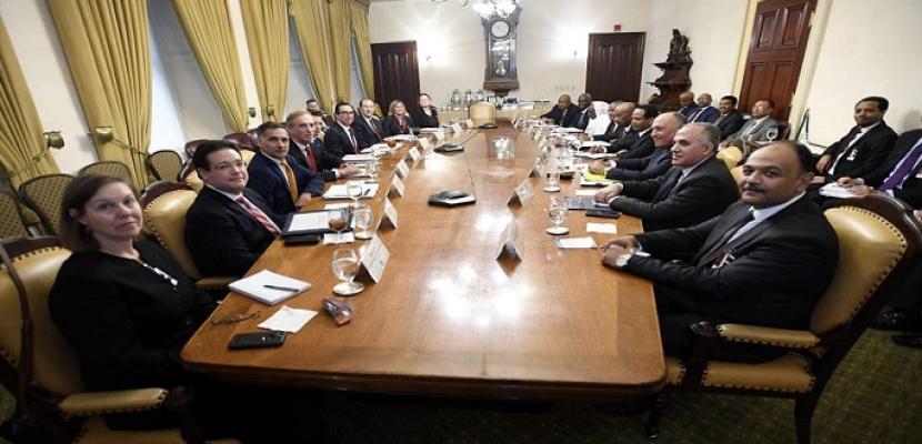 وزيرا الخارجية والرى يؤكدان أهمية حسن النية بمفاوضات سد النهضة لتحقيق المصالح المشتركة
