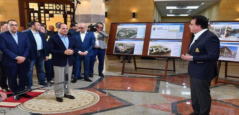 بالفيديو و الصور .. الرئيس السيسى يتفقد فرع جامعة الملك سلمان الدولية بشرم الشيخ