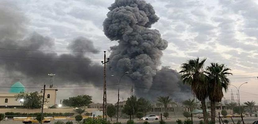 """استهداف قاعدة جوية في الأنبار بصاروخي """"كاتيوشا"""""""