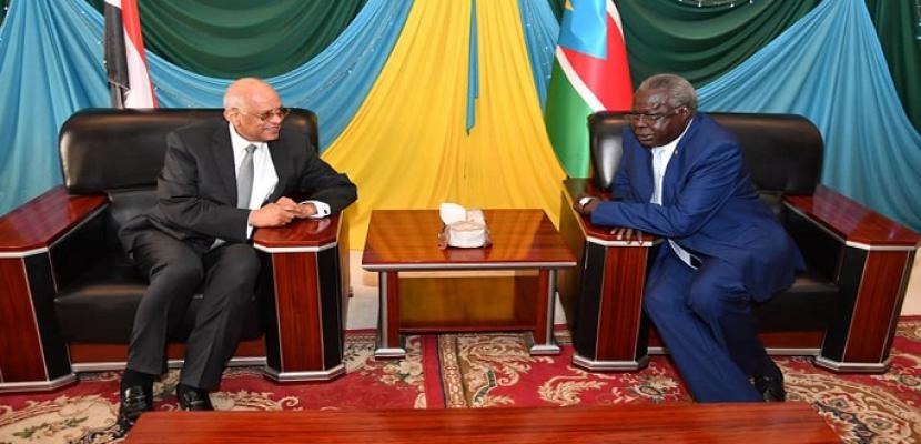 بالصور .. على عبد العال يصل جوبا عاصمة جنوب السودان لبحث العلاقات الثنائية