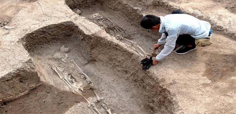 اكتشاف 62 قبراً تعود إلى 1400 عام شمال غربي الصين