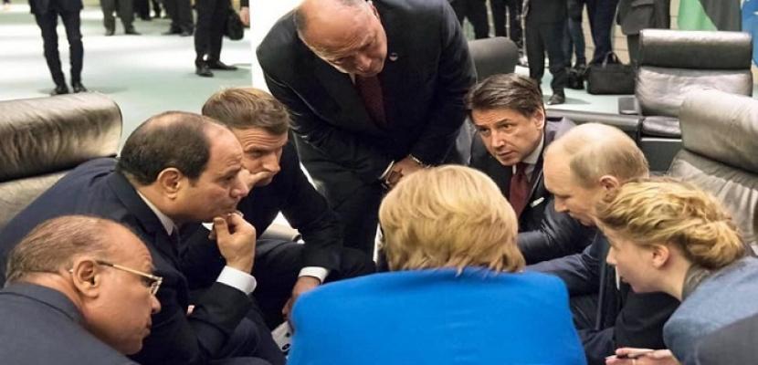 صور مشاركة الرئيس السيسى فى مؤتمر برلين و مشاوارته مع الزعماء المشاركين فى المؤتمر