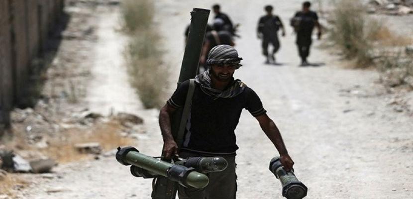 الجماعات الإرهابية تستهدف ممر الحاضر بريف حلب بالقذائف