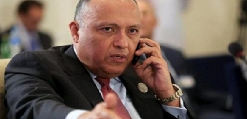 شكري ونظيره الأردني يؤكدان أهمية استئناف عملية السلام والحفاظ على الحقوق الفلسطينية