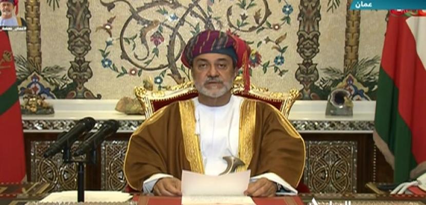 سلطان عمان يتعهد في خطاب للأمة بالمضى  في رسالة نشر السلام فى العالم