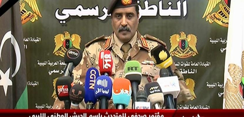 مؤتمر صحفي للمتحدث باسم الجيش الوطني الليبي اللواء أحمد المسماري