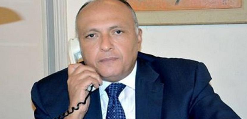 شكرى يبحث هاتفياً مع وزيرة الخارجية الأسبانية مستجدات الأزمة الليبية والقضية الفلسطينية
