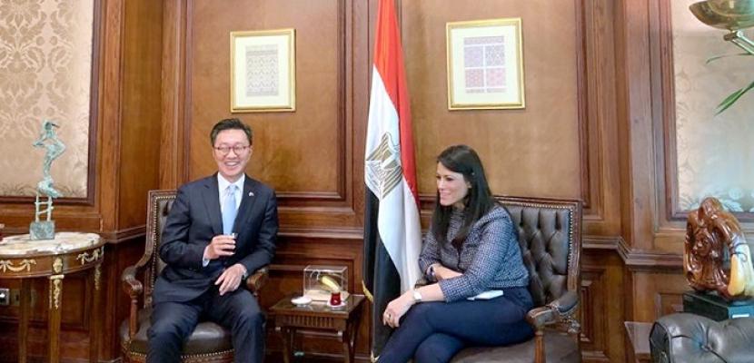 المشاط تبحث مع سفير كوريا الجنوبية الشراكة الشاملة بين البلدين