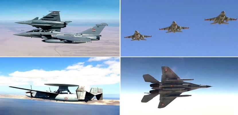 القوات الجوية المصرية والفرنسية تنفذان تدريبا جويا عابرا بمشاركة حاملة الطائرات الفرنسية (شارل ديجول)