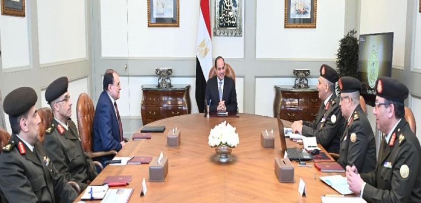 الرئيس السيسي يوجه بسرعة الانتهاء من مشروعات تطوير الطرق والكباري بأحياء القاهرة الكبرى