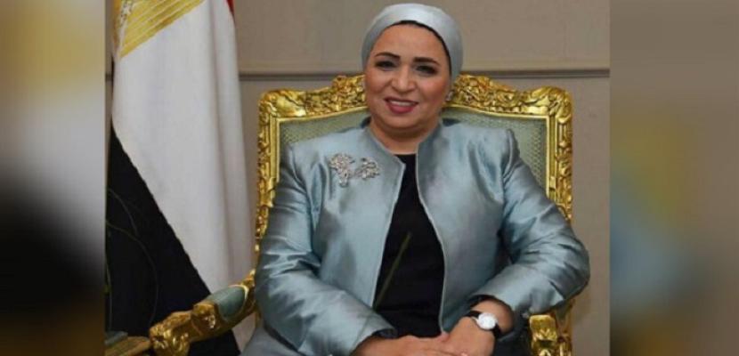 قرينة الرئيس تهنئ المصرىين: احتفالنا يعكس وحدة وترابط الشعب