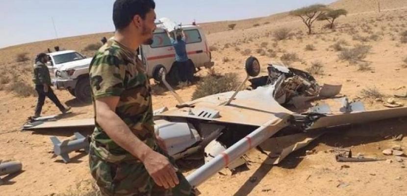 الجيش الليبى يسقط 5 طائرات تركية مسيرة استهدفت المدنيين فى ترهونة