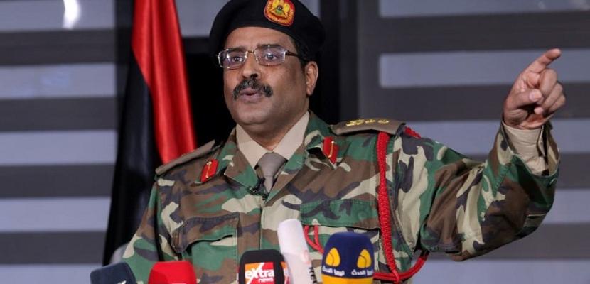 المسمارى : خروج الإرهابيين والغزاة الاتراك شرط الجيش الليبى للحوار