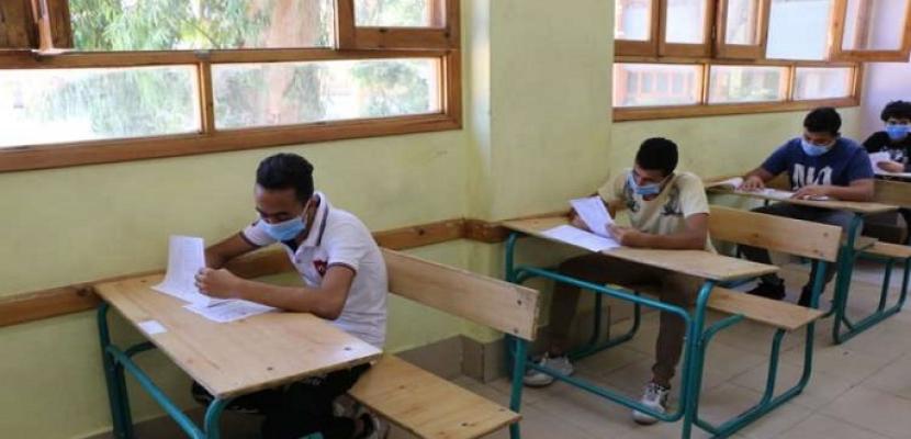 طلاب الدمج يؤدون اليوم الامتحان المجمع لنهاية العام الدراسى 2021