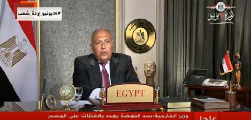 شكرى أمام مجلس الأمن : ملء سد النهضة دون إتفاق يهدد حياة 100 مليون مصرى .. ومصر لن تسمح بتهديد أمنها المائى