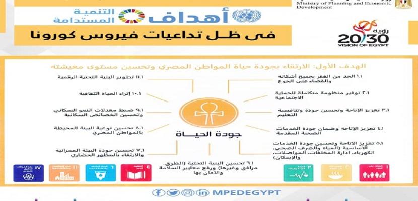وزارة التخطيط تصدر تقريرًا حول أهم المبادرات المصرية لدعم تحقيق أهداف التنمية المستدامة في ظل تداعيات كورونا