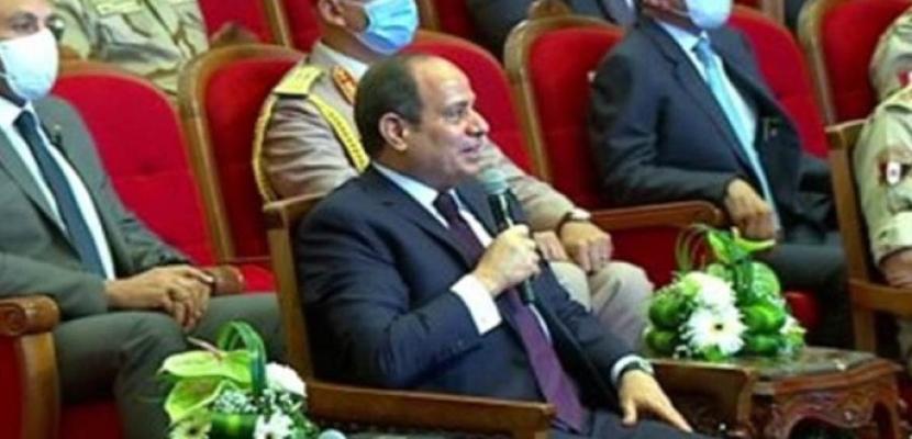 الرئيس السيسى : تنفيذ المشروعات الجديدة كان ضروريا لمصلحة المواطن والدولة