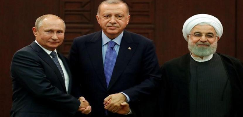 الكرملين: بوتين وأردوغان وروحاني يبحثون يوم الأربعاء الوضع في سوريا