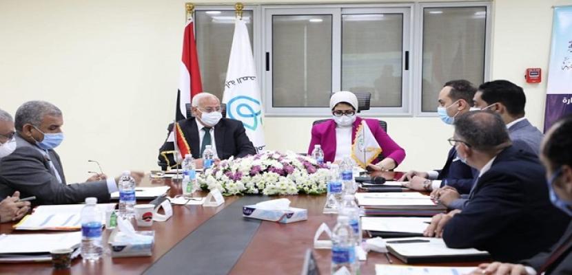 بالصور.. وزيرة الصحة: مشروع التأمين الصحي الشامل نتاج رؤية القيادة السياسية للاستثمار لبناء الإنسان المصري