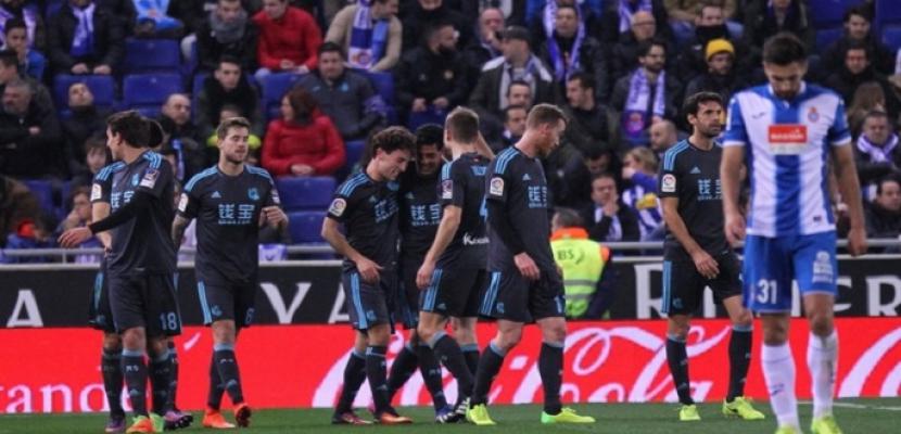 ريال سوسيداد يحقق فوزا ثمينا على إسبانيول ليعزز حظوظه في المشاركة الأوروبية