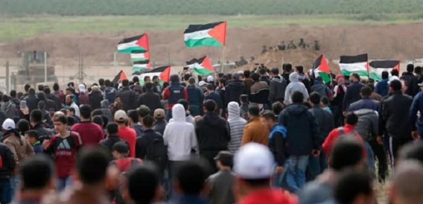 مظاهرات فى قطاع غزة ضد خطة الاحتلال لضم أجزاء من الضفة الغربية