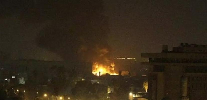 سقوط صاروخ قرب إحدى بوابات المنطقة الخضراء وسط بغداد