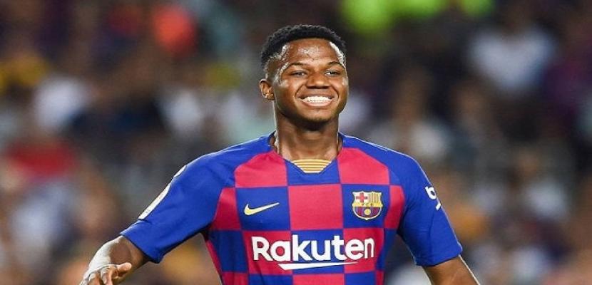 برشلونة يعلن تعافي لاعبه الشاب أنسو فاتي