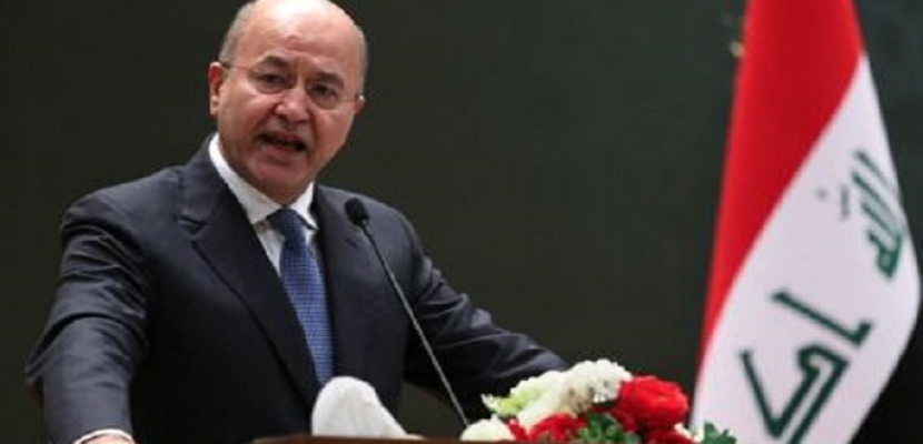 الرئيس العراقي يحذر من التراخي بمحاسبة الفاسدين ويدعو لانتخابات مبكرة