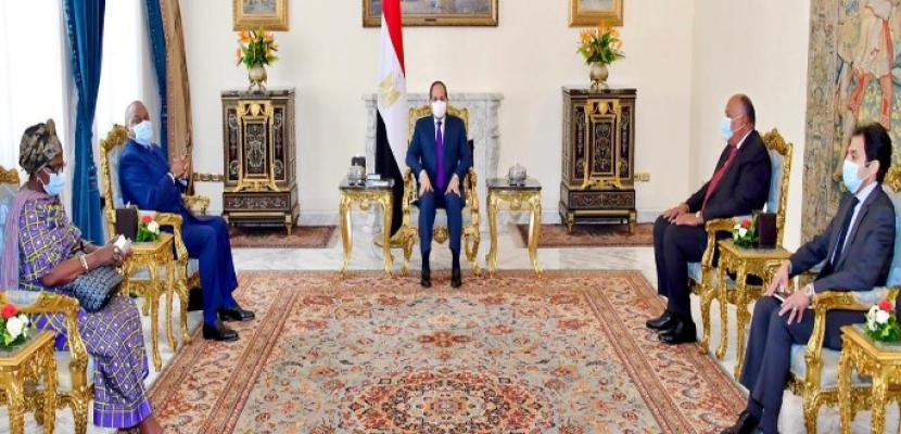 بالصور .. الرئيس السيسي يعرب عن تقديره لموقف الكونغو الديمقراطية المساند لمصر فيما يتعلق بمياه النيل