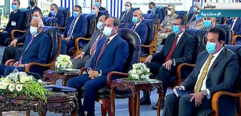 الرئيس السيسى يفتتح الجامعة المصرية اليابانية وعدداً من الجامعات الأهلية