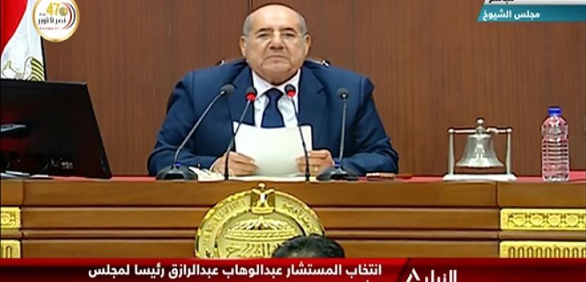 """في ختام جلسته العامة.. """"الشيوخ"""" يوافق على تشكيل لجنة خاصة لوضع اللائحة الداخلية خلال شهر"""