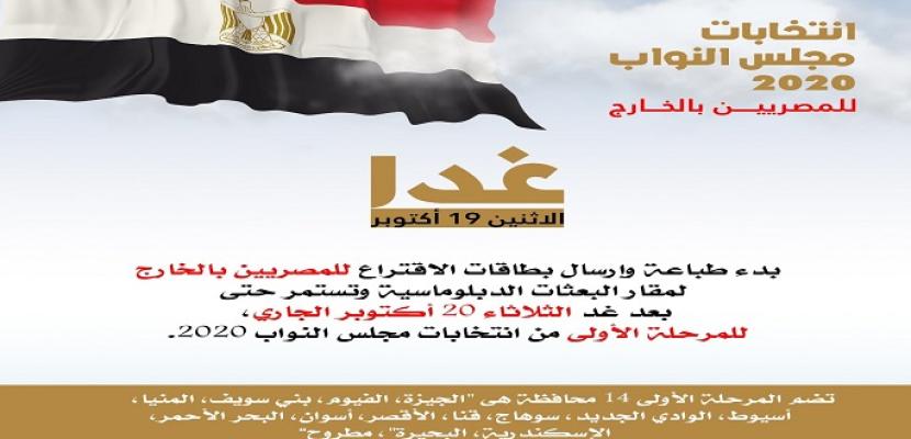 الهجرة: بدء طباعة وإرسال بطاقات الاقتراع لانتخابات مجلس النواب للمصريين بالخارج