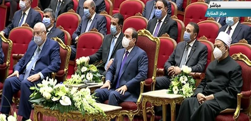 السيسي يشهد احتفال وزارة الأوقاف بذكرى المولد النبوي الشريف