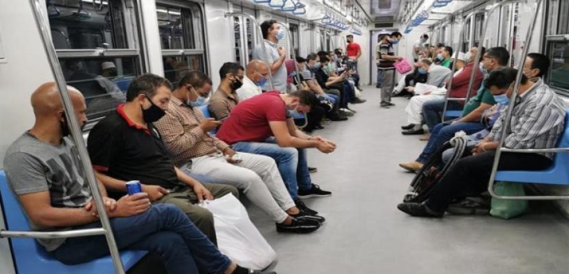 بدء تنفيذ قرار منع دخول محطات المترو بدون كمامات وتفعيل الغرامة اعتباراً من اليوم