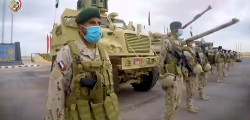 بالفيديو .. التدريب العسكرى المشترك سيف العرب يجمع 6 دول عربية بقاعدة محمد نجيب