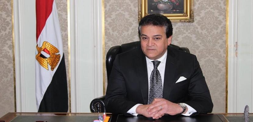 وزير التعليم العالي يستعرض تقريرًا حول مشروع تطبيق معلومات قضايا الدولة للوزارة