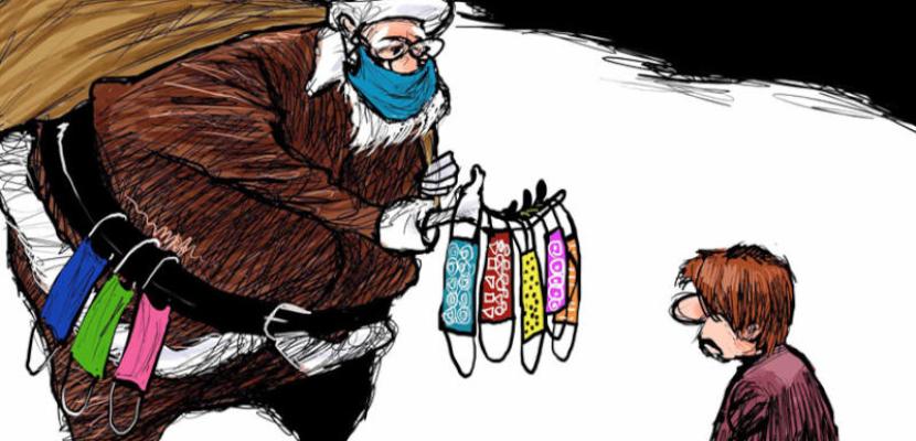 هدايا بابا نويل فى زمن الكورونا
