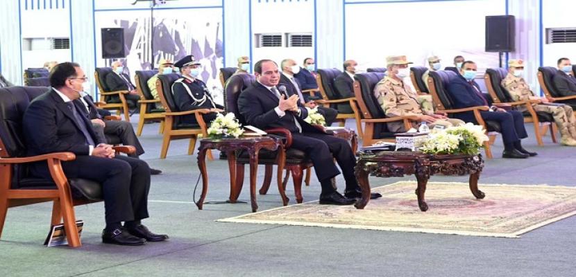 بالفيديو .. الرئيس السيسي: نحتاج إلى حشد الجهود والطاقات لتغيير الأوضاع في القرى للأفضل