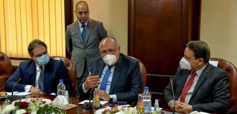 """وزير الخارجية: لقاء """"الأعلى للإعلام"""" فرصة لتبادل الرؤى مع صنّاع الفكر وقادة الصحافة"""