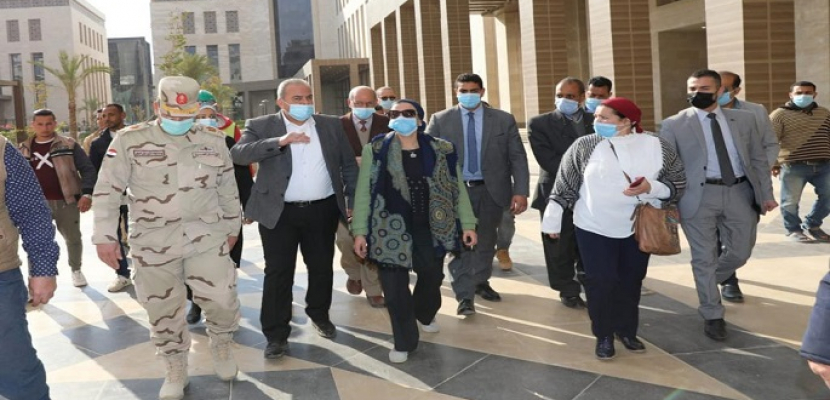 بالصور.. وزيرة البيئة تتفقد مبنى الوزارة الجديد بالعاصمة الإدارية