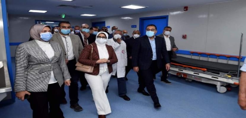 بالصور .. رئيس الوزراء يتفقد الأعمال الإنشائية لمبنى الطوارئ والجراحات الجديد بمستشفى شبين الكوم التعليمي