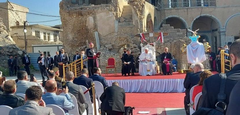"""البابا فرنسيس يدعو المسيحيين للعودة إلى الموصل والقيام بدورهم """"الحيوي"""""""