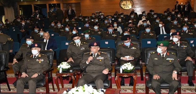بالفيديو والصور.. وزير الدفاع يشهد مناقشة البحث الرئيسى لأكاديمية ناصر العسكرية العليا