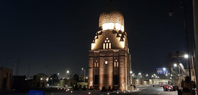 بالصور.. الاثار: الانتهاء من أعمال ترميم قبة قانصوه أبو سعيد وأعمال تنسيق موقعها العام