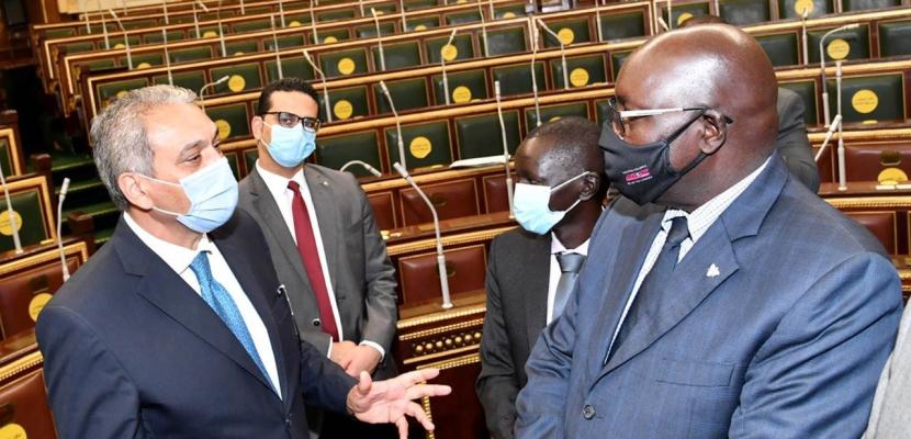 بالصور..وفد قضائي من جنوب السودان يزور مجلس النواب