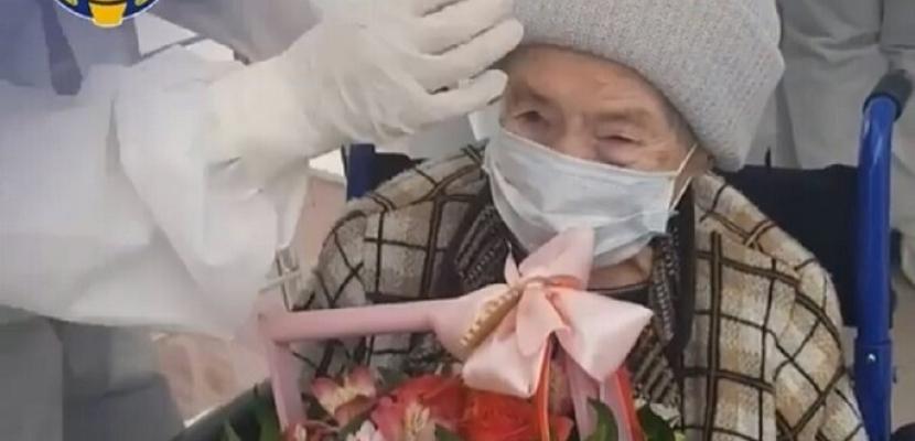 شفاء معمرة عمرها 99 سنة من كورونا في القوقاز الروسي