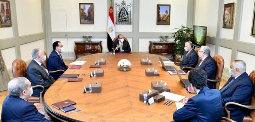الرئيس السيسي يوجه بتكامل تطوير نظم الري الحديث مع مشروعات الدولة لحسن إدارة مياه الري