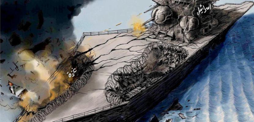 اسرائيل تقصف غزة .. وآثار القصف يؤثر عليها