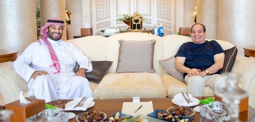 الرئيس السيسي: المباحثات مع ولي عهد السعودية تناولت تطوير العلاقات المشتركة والقضايا الإقليمية والدولية ذات الاهتمام المشترك